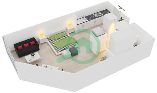 Magnolia Residence - Studio Apartment Type G-S-3 Floor plan