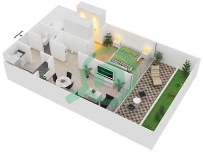Magnolia Residence - 1 Bedroom Apartment Type G-1B-2 Floor plan