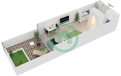 Magnolia Residence - Studio Apartment Type G-S-2 Floor plan