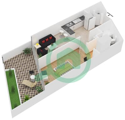 Magnolia Residence - 1 Bedroom Apartment Type G-1B-1 Floor plan