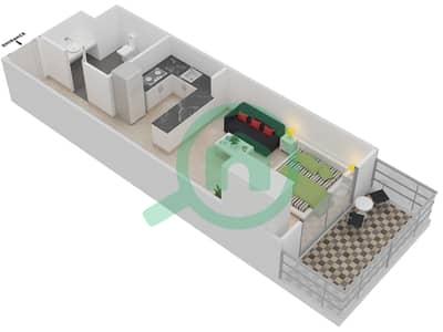 Plazzo Residence - Studio Apartment Type 4 Floor plan