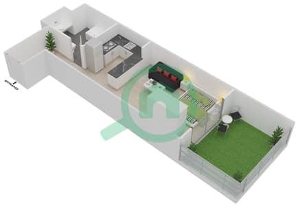 Plazzo Residence - Studio Apartment Type 3 Floor plan