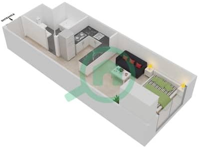 Plazzo Residence - Studio Apartment Type 6 Floor plan