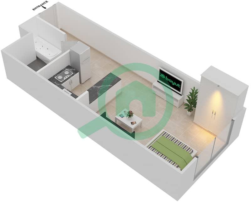 المخططات الطابقية لتصميم النموذج 5 شقة  - بلازو ريزيدنس image3D