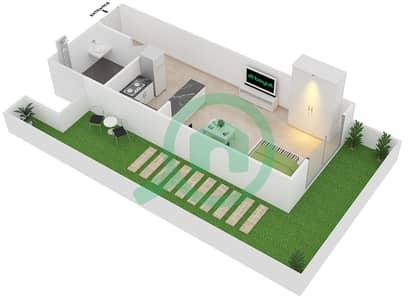 Plazzo Residence - Studio Apartment Type 7 Floor plan