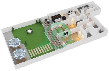 Plazzo Residence - 2 Bedroom Apartment Type 29 Floor plan