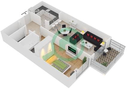 Plazzo Residence - 1 Bedroom Apartment Type 19 Floor plan