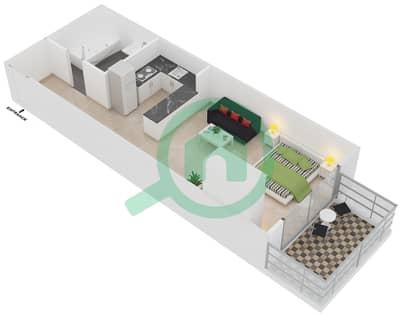Plazzo Residence - Studio Apartment Type 10 Floor plan
