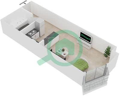 Plazzo Residence - Studio Apartment Type 9 Floor plan