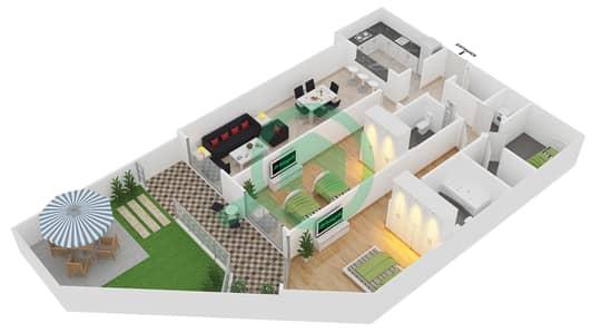 Plazzo Residence - 2 Bedroom Apartment Type 31 Floor plan