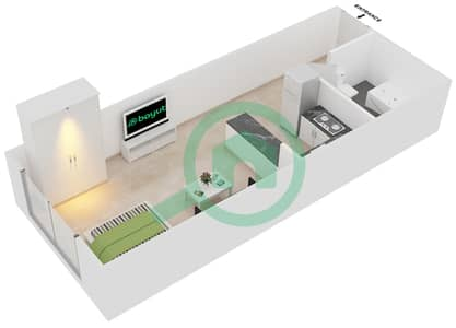 Plazzo Residence - Studio Apartment Type 12 Floor plan