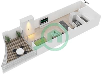 Plazzo Residence - Studio Apartment Type 13 Floor plan