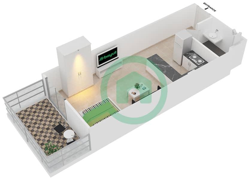 المخططات الطابقية لتصميم النموذج 15 شقة  - بلازو ريزيدنس image3D