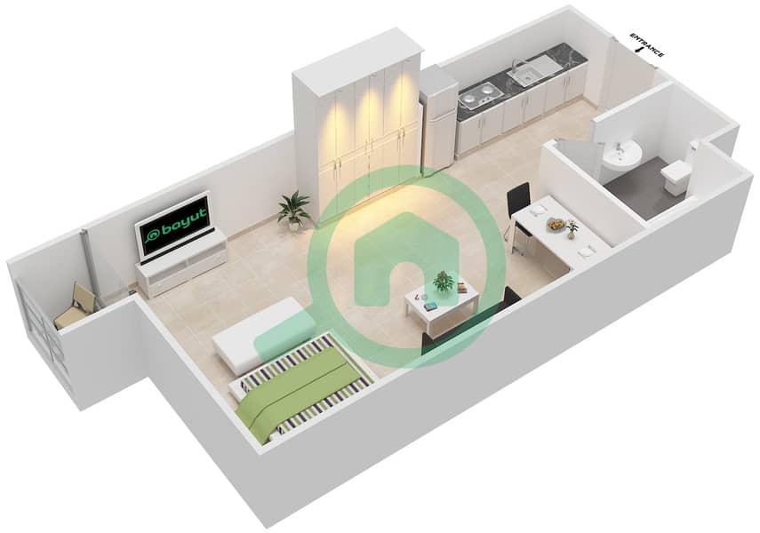 المخططات الطابقية لتصميم الوحدة 24 SECOND FLOOR شقة  - توسكان ريزيدنس Second Floor image3D