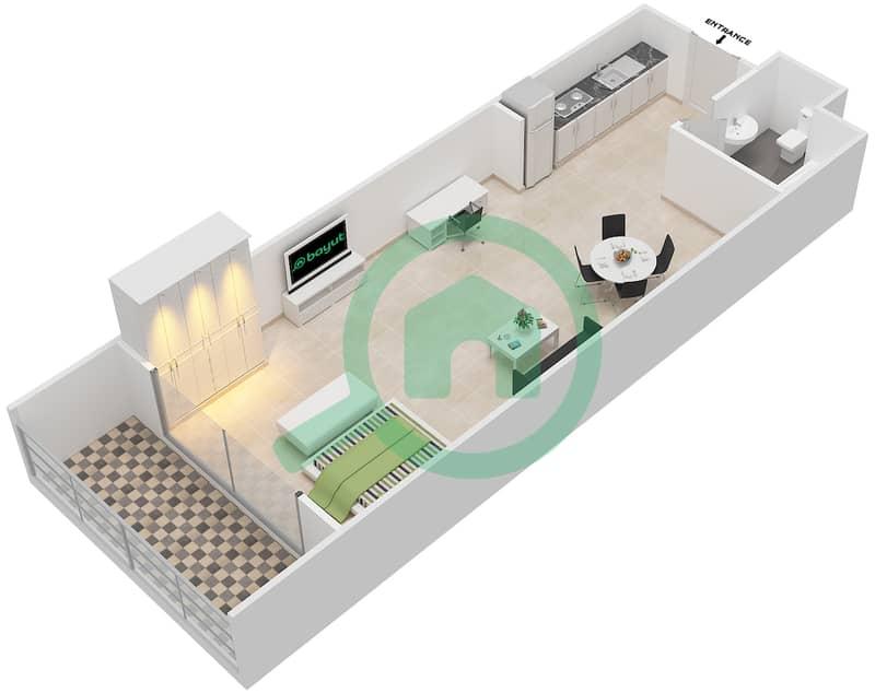 المخططات الطابقية لتصميم الوحدة 19 SIENA 1 شقة  - توسكان ريزيدنس Second Floor image3D