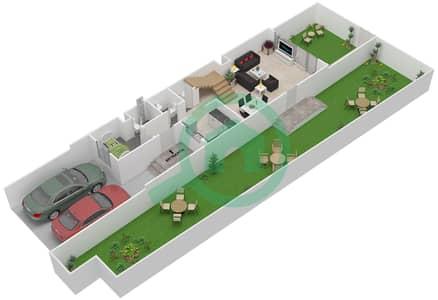 المخططات الطابقية لتصميم النموذج LEFT فیلا 3 غرف نوم - توليب بارك