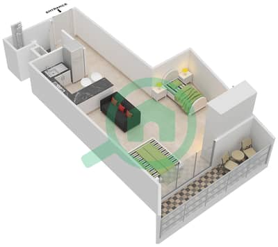 المخططات الطابقية لتصميم النموذج 4 شقة  - بلاتينيوم ريزيدنس