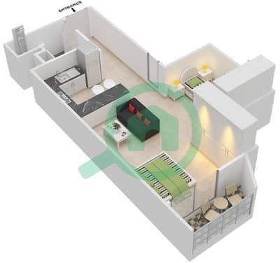 المخططات الطابقية لتصميم النموذج 3 شقة  - بلاتينيوم ريزيدنس