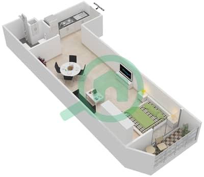 المخططات الطابقية لتصميم النموذج 2 شقة  - بلاتينيوم ريزيدنس