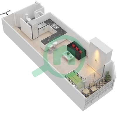 المخططات الطابقية لتصميم النموذج 1 شقة  - بلاتينيوم ريزيدنس