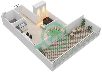 المخططات الطابقية لتصميم النموذج 3 شقة  - أكسفورد ريزيدنس