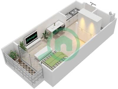 المخططات الطابقية لتصميم النموذج 1 شقة  - أكسفورد ريزيدنس