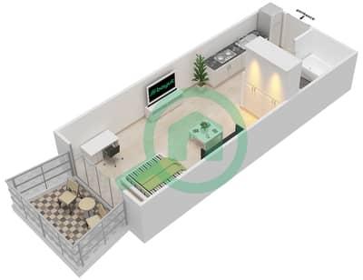 المخططات الطابقية لتصميم النموذج 2 شقة  - كنسينغتون ماينور