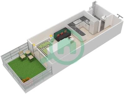 المخططات الطابقية لتصميم النموذج / الوحدة 18 UNIT G03,G04,G05,G06 شقة  - مساكن جويا فيردا