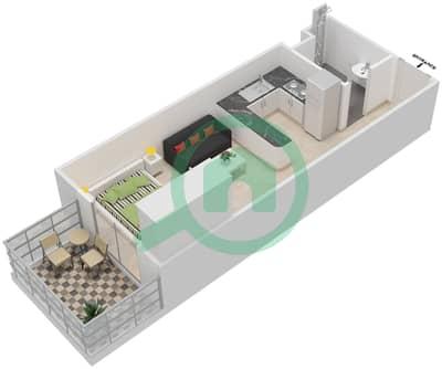 المخططات الطابقية لتصميم الوحدة 9 UNIT 112,115 شقة  - مساكن جويا فيردا