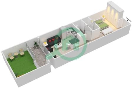 المخططات الطابقية لتصميم الوحدة 8 UNIT 103 شقة  - مساكن جويا فيردا