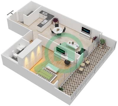 المخططات الطابقية لتصميم النموذج 7 شقة 1 غرفة نوم - غالية كونستيلا