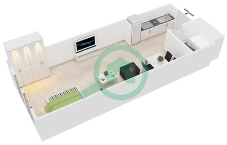 المخططات الطابقية لتصميم النموذج 1 شقة  - حدائق الإمارات