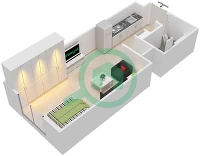 المخططات الطابقية لتصميم النموذج 1 شقة  - إيتون بليس