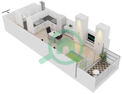 المخططات الطابقية لتصميم النموذج 1 UNITS 202 شقة  - كريستال ريزيدنس