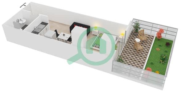 المخططات الطابقية لتصميم النموذج 3 UNITS 120,121 شقة  - كريستال ريزيدنس