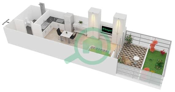 المخططات الطابقية لتصميم النموذج 2 UNIT G09 شقة  - كريستال ريزيدنس