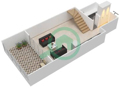 المخططات الطابقية لتصميم الوحدة 308 شقة 1 غرفة نوم - كابودوشا