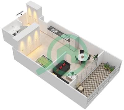 المخططات الطابقية لتصميم الوحدة 209 شقة  - كابودوشا