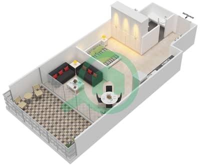 المخططات الطابقية لتصميم الوحدة 208 شقة  - كابودوشا