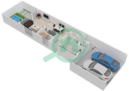 المخططات الطابقية لتصميم النموذج A فیلا 4 غرف نوم - فلل بارك