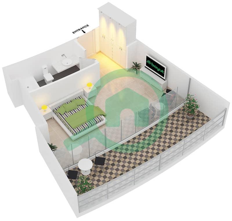 المخططات الطابقية لتصميم النموذج A2 شقة  - سويتس إن ذا سكاي 3D