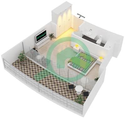 المخططات الطابقية لتصميم النموذج A1 شقة  - سويتس إن ذا سكاي