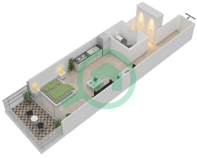 المخططات الطابقية لتصميم النموذج TYPICAL B شقة  - موجات الشمال