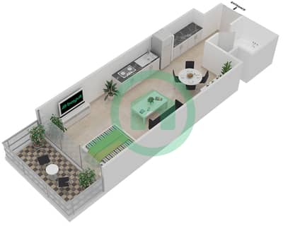 المخططات الطابقية لتصميم النموذج TYPICAL A شقة  - موجات الشمال
