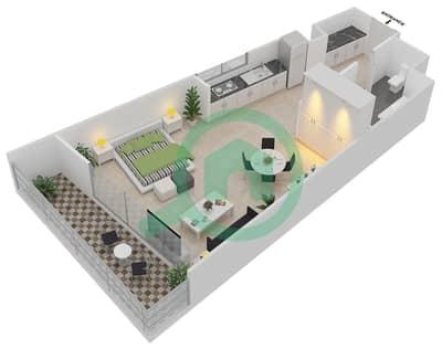 المخططات الطابقية لتصميم النموذج CORNER شقة  - موجات الشمال