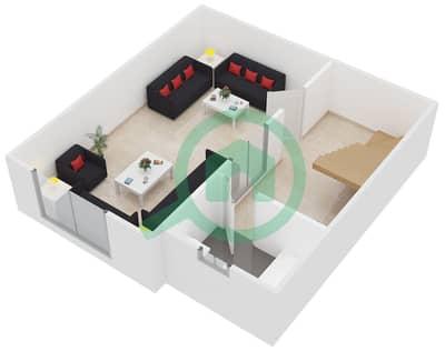 المخططات الطابقية لتصميم النموذج B تاون هاوس 4 غرف نوم - ويستار لي كاتيليتس
