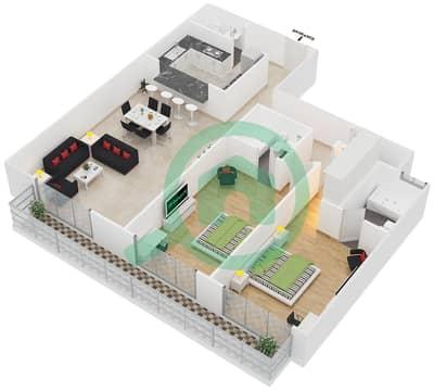 Spica Residential - 2 Bedroom Apartment Type 2 Floor plan