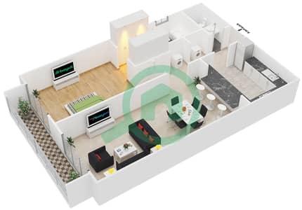 Spica Residential - 1 Bedroom Apartment Type 1 Floor plan