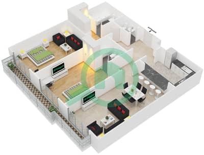 Spica Residential - 2 Bedroom Apartment Type 1 Floor plan