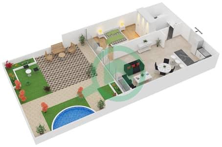 زايا هاميني - 1 غرفة شقق اكتب A1 مخطط الطابق